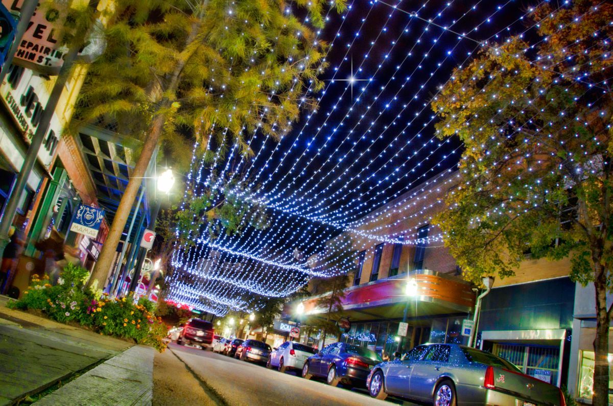 Mobile, Downtown Lights, Foto Visit Mobile